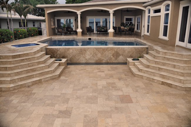 Swimming Pool Stone Sealer : Travertine pool deck pictures images