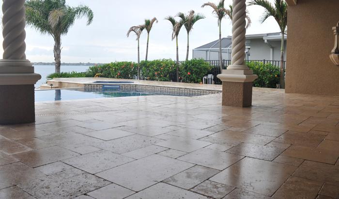 Paver Pool Deck Sealing For Travertine