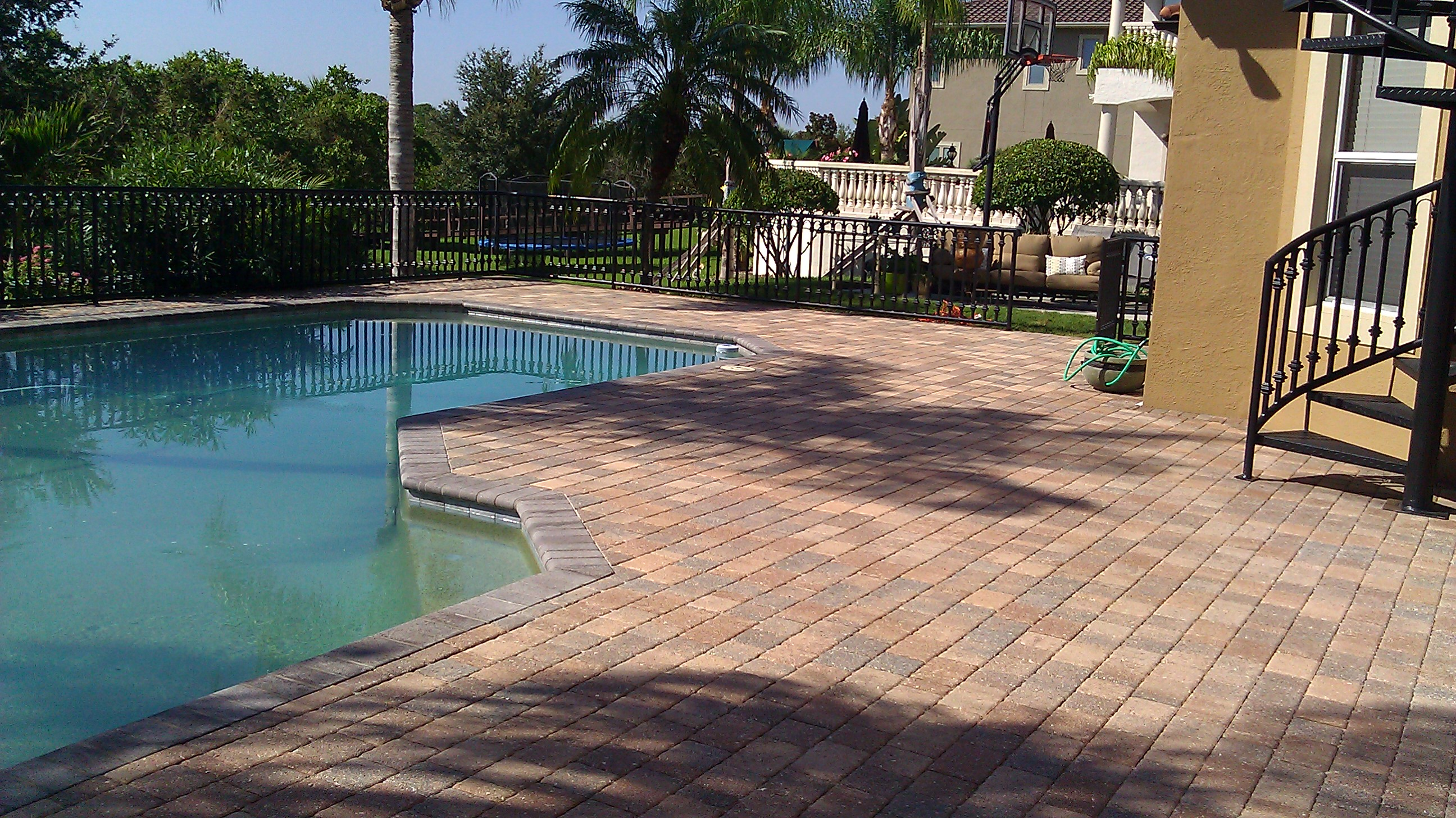 Travertine Pool Deck Paver Pool Deck Sealing  Brick Pavertravertine Sealing And