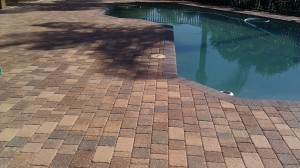 After sealing, the colors in the pavers really show