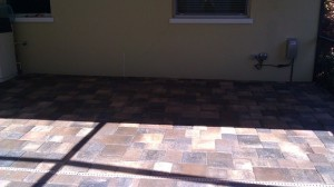 new paver patio efflorescence removed and sealed