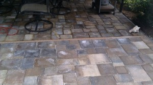 Clearwater paver patio with efflorescence