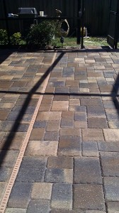 new pavers in Clearwater, FL with efflorescence treated, removed and sealed