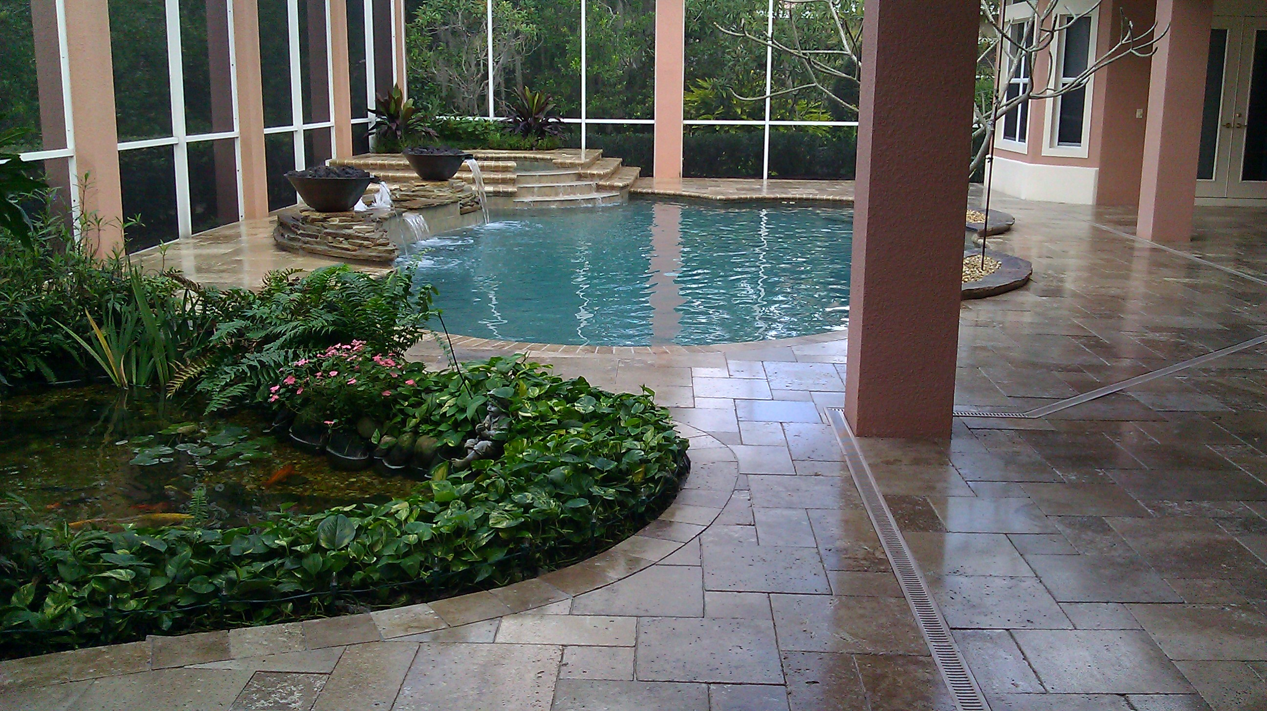 Travertine Pool Deck Sealer Travertine Pool Deck Sealed  Paver Sealing And Repair Seal N