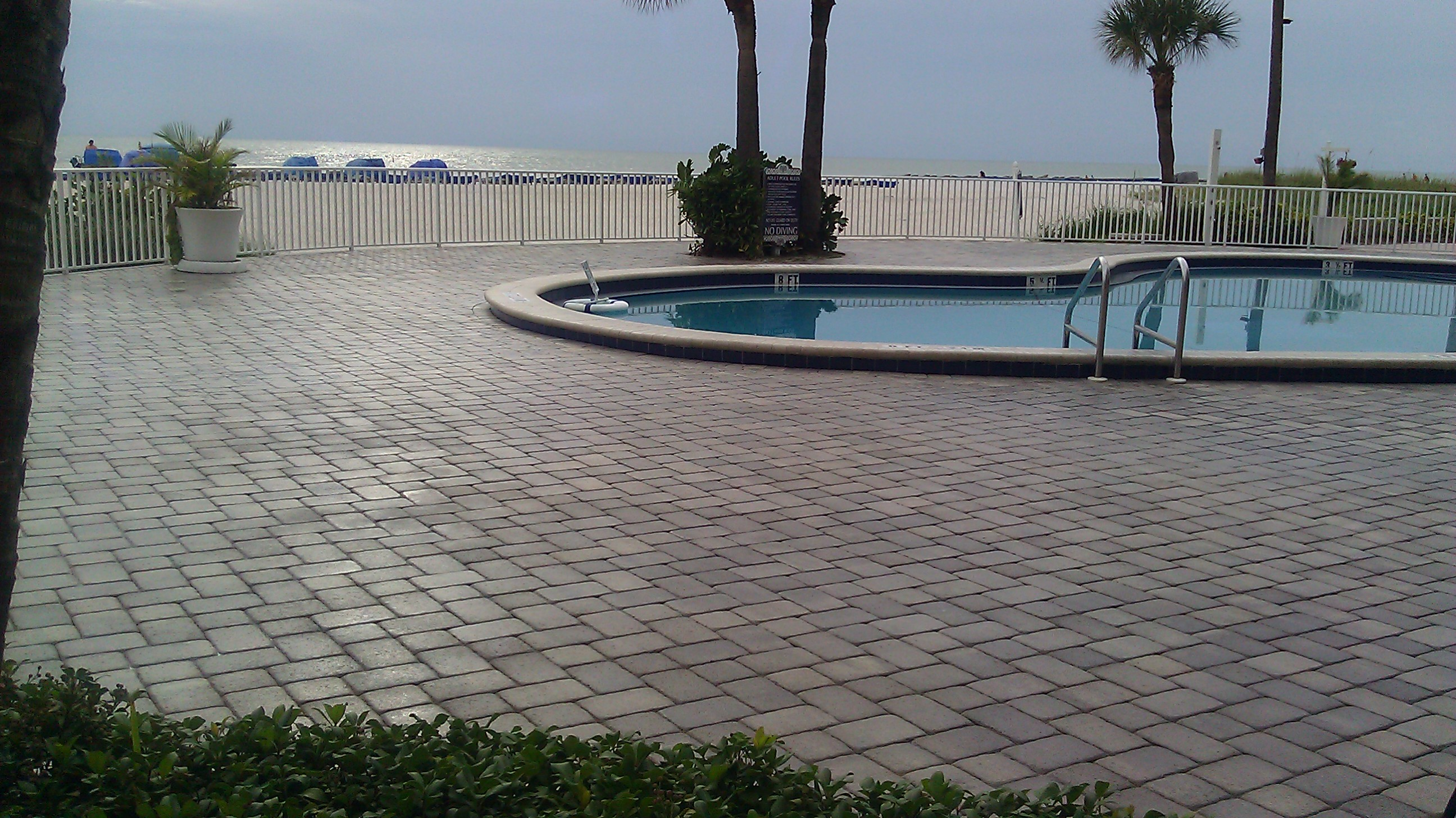 Pavers Commercial Pool Deck And Driveway Pavers Brick