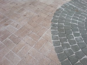 polymeric sand staining of pavers