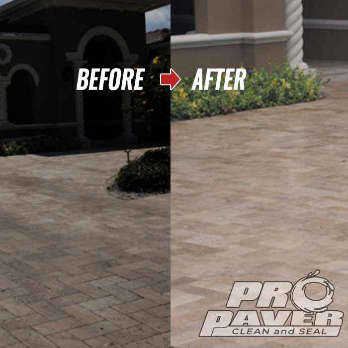 travertine driveway in Clearwater Beach